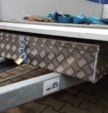 Disselkist aluminium met spansluiting (90x38x19 cm)