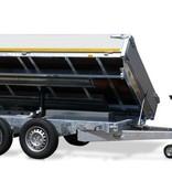 Eduard Geremde Eduard 3-zijdige kipper - 330x180 cm - 3000 kg bruto laadvermogen - elektrisch, extern laden - 63 cm laadvloerhoogte - inclusief oprijplaten & uitzetsteunen