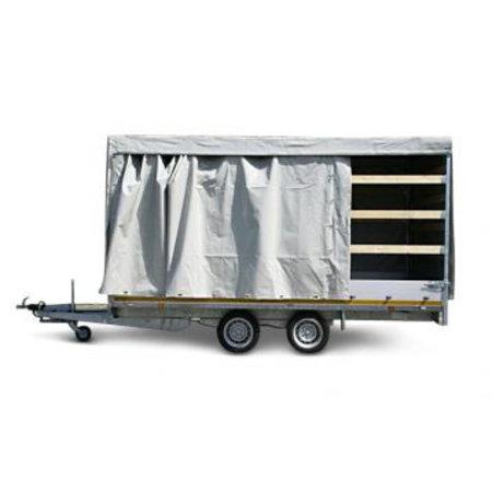 Eduard Geremde Eduard plateauwagen - 406x200 cm - 3000 kg bruto laadvermogen - 63 cm laadvloerhoogte - 30 cm borden