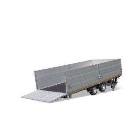 Eduard Geremde Eduard machinetransporter - 506x200 cm - 3500 kg bruto laadvermogen - elektrisch, extern laden, afstandsbediening - 63 cm laadvloerhoogte - 30 cm borden