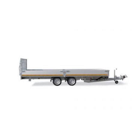 Eduard Geremde Eduard machinetransporter - 506x220 cm - 3000 kg bruto laadvermogen - elektrisch, extern laden, afstandsbediening - 63 cm laadvloerhoogte - 30 cm borden