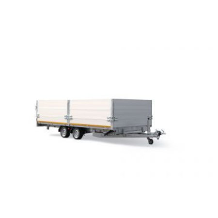 Eduard Geremde Eduard machinetransporter - 606x200 cm - 3500 kg bruto laadvermogen - elektrisch, extern laden, afstandsbediening - 63 cm laadvloerhoogte - 30 cm borden
