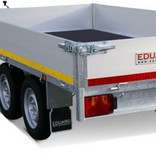 Eduard Geremde Eduard plateauwagen - 330x180 cm - 2700 kg bruto laadvermogen - 72 cm laadvloerhoogte - 30 cm borden