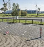 ProPlus Omklapbare antiparkeerpaal met slot - grijs/rood