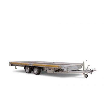 Eduard Geremde Eduard autotransporter - 406x200 cm - 3000 kg bruto laadvermogen - 56 cm laadvloerhoogte - kantelbaar met oprijplaten - 10 cm reling