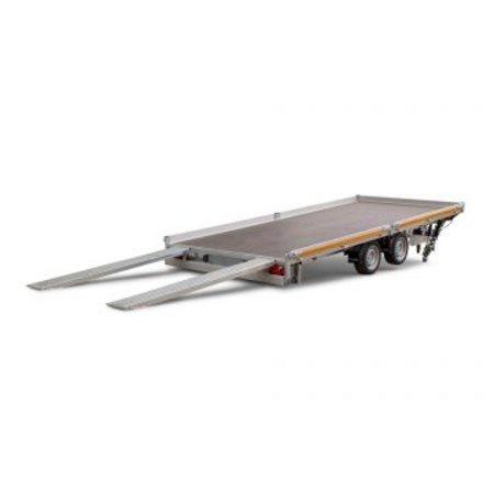 Eduard Geremde Eduard autotransporter - 406x200 cm - 3000 kg bruto laadvermogen - 63 cm laadvloerhoogte - kantelbaar met oprijplaten - 10 cm reling