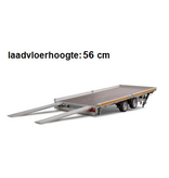 Eduard Geremde Eduard autotransporter - 406x220 cm - 3000 kg bruto laadvermogen - 56 cm laadvloerhoogte - kantelbaar met oprijplaten - vlak