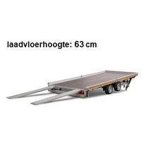 406x220 cm - 3000 kg - vlak - handpomp