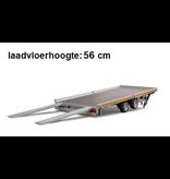 Eduard Geremde Eduard autotransporter - 506x200 cm - 3000 kg bruto laadvermogen - 56 cm laadvloerhoogte - kantelbaar met oprijplaten - vlak