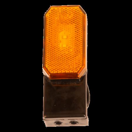 Zijmarkeringslamp - L/R - 12-24V - inclusief steun - oranje