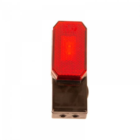 Zijmarkeringslamp - L/R - 12-24V - inclusief steun - rood