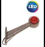 Breedtelicht rood/wit - 45 graden - LED - 12/24 Volt