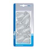 ProPlus Touwhaak metaal 40x45 mm - 10 stuks verpakt in blister