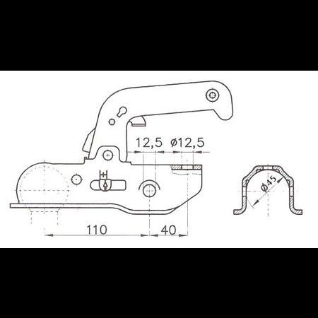 Albe Albe - EM220RA - rond 45 mm - 2200 kg - geremde koppeling