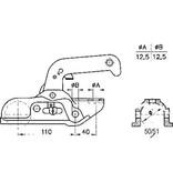 Albe Albe EM150RB - rond 50 mm - 1500 kg - geremde koppeling