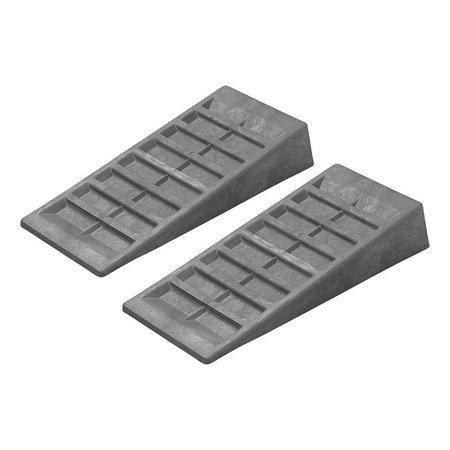 ProPlus Set oprijblokken - grijs - 90 mm hoog