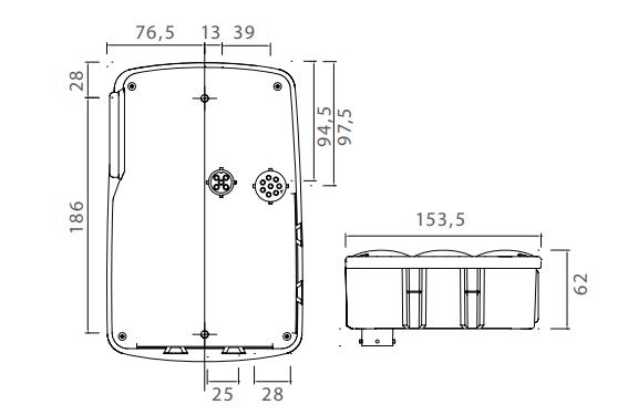 Aspock Earpoint 4 Rechts - voorzien van alle functies - premium technische tekening