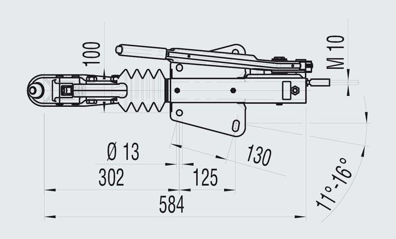 technische tekening alko 90s/3 1000 kg vdissel