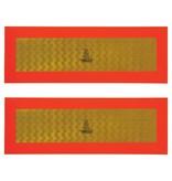 ProPlus ECE 70 markeringsstickers - 560x200 mm/56x20 cm - 2 stuks - reflecterend geel met oranje rand