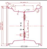 AWD Compleet 8 inch wiel - 18.5x8.50-8 band + velg - opel steek: 4x100 - 6PR - 425 kg - 60 mm naafdiameter