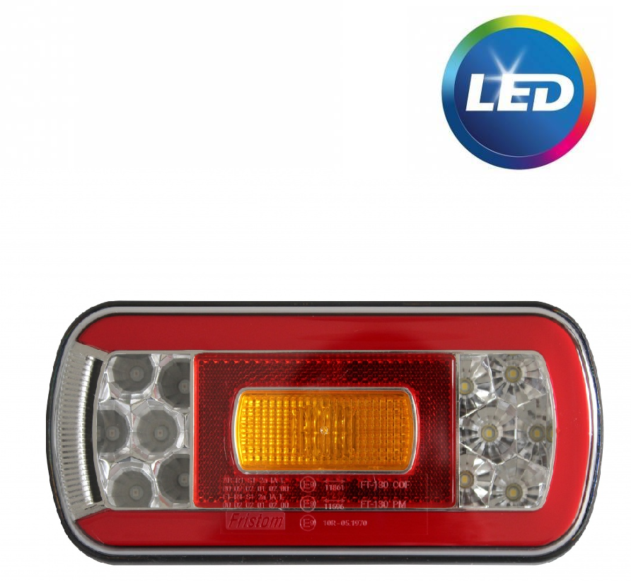 Fristom Fristom FT-130 rechts - inclusief achteruitrijverlichting - LED 220x110x50,5 mm