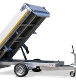Eduard Geremde Eduard achterwaartse kipper - 256x150 cm - 1500 kg bruto laadvermogen - elektrisch, extern laden en handpomp - 63 cm laadvloerhoogte