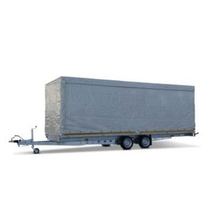 Eduard Geremde Eduard plateauwagen - 606x200 cm - 2700 kg bruto laadvermogen - 63 cm laadvloerhoogte - 30 cm borden
