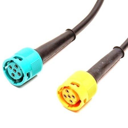 Aspock Aspock connectoren links (geel) en rechts (groen)