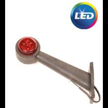 Breedtelicht rood/wit - 45 graden - LED - links