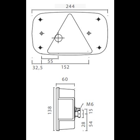 Aspock Aspock Multipoint 3 - rechts - 5-polig - 244x138x60 mm