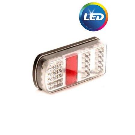 AWD Achterlicht met Aspöck connector 228x106x55 mm - volledig LED en Plug&Play - links
