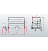 Anssems Anssems GTB 1200 VT2 HT gesloten aanhanger - 1200 kg bruto laadvermogen - 251x126x118 cm laadoppervlak - geremd - inclusief deksel en achterklep