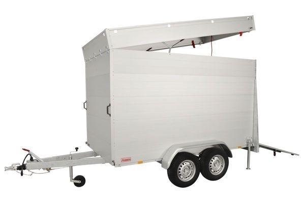 Anssems Anssems GTT 2500 VT4 HT gesloten aanhanger - 2500 kg bruto laadvermogen - 301x151x188 cm laadoppervlak - geremd - inclusief deksel en achterklep