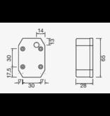 Aspock Aspock Flexipoint 1 - rood - losse draad aansluiting