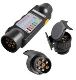 ProPlus Stekker Tester 7 polig 12 Volt met 2 adapters