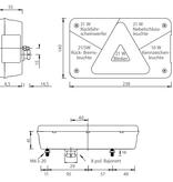 Aspock Multipoint 5 Links achterlicht 8 polige centrale stekkeraansluiting