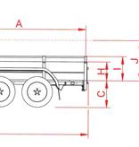 Anssems Anssems BSX 750 bakwagen - 750 kg bruto laadvermogen - 251x130 cm laadoppervlak - ongeremd