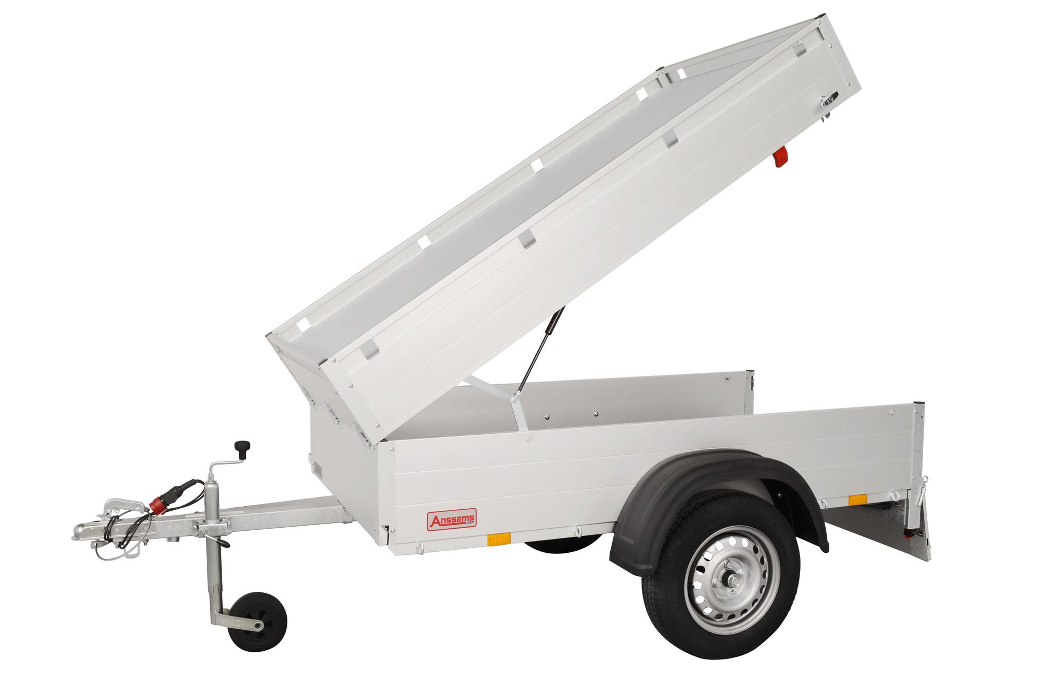 Anssems Anssems GT 500 bagagewagen - 500 kg bruto laadvermogen - 151x101x48 cm laadoppervlak - ongeremd - inclusief deksel