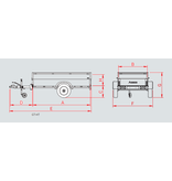 Anssems Anssems GT 750 bagagewagen - 750 kg bruto laadvermogen - 251x126x48 cm laadoppervlak - ongeremd - inclusief deksel