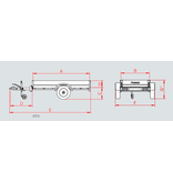 Anssems Anssems GT 500 bakwagen - 500 kg bruto laadvermogen - 151x101 cm laadoppervlak - ongeremd