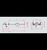 Anssems Anssems GTB 750 bakwagen - 750 kg bruto laadvermogen - 251x126 cm laadoppervlak - geremd