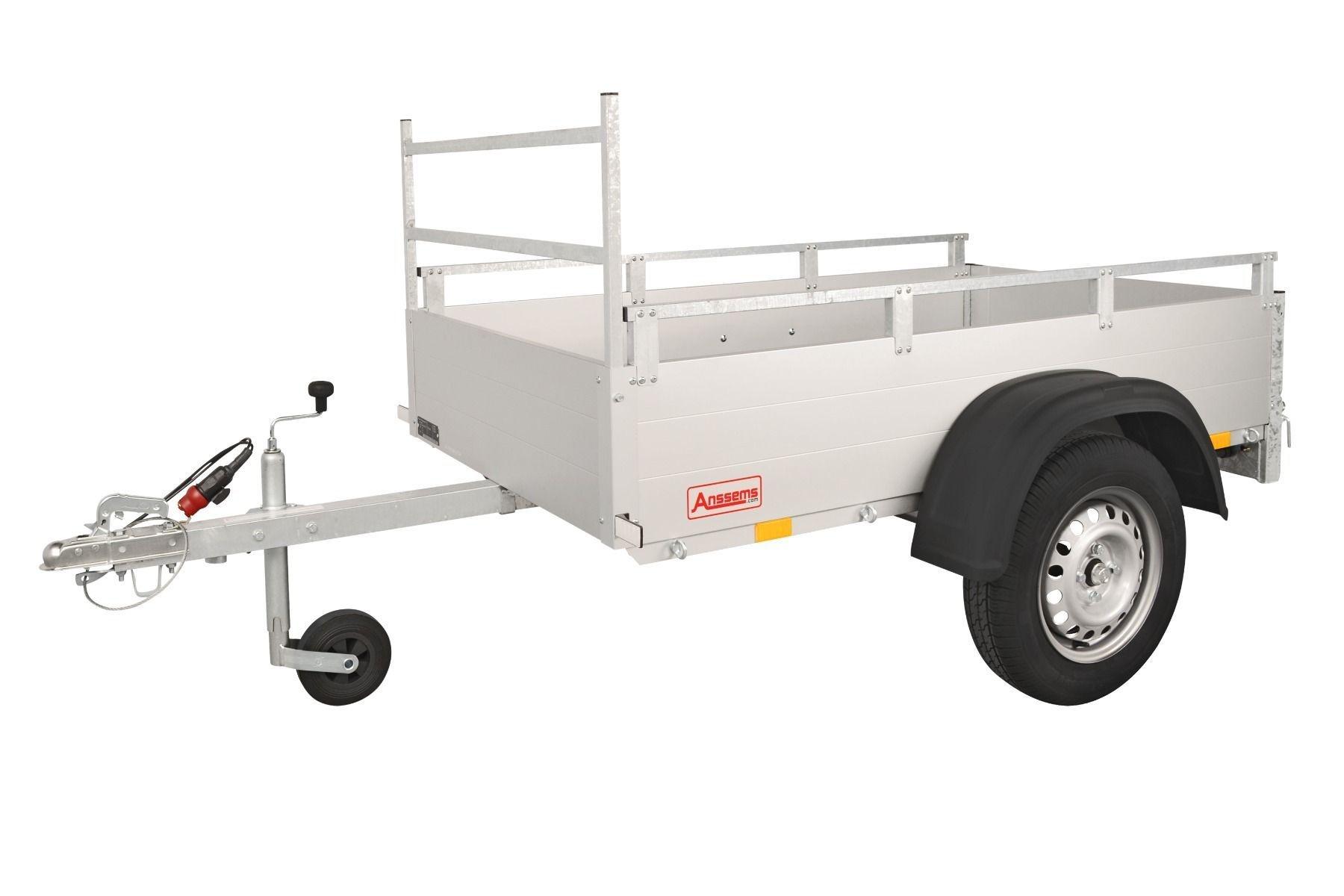 Anssems Anssems GT 750 R bakwagen - 750 kg bruto laadvermogen - 211x126 cm laadoppervlak - ongeremd - inclusief reling en voorrek