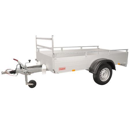 Anssems Anssems GTB 1200 R bakwagen - 1200 kg bruto laadvermogen - 251x126 cm laadoppervlak - geremd - inclusief reling en voorrek
