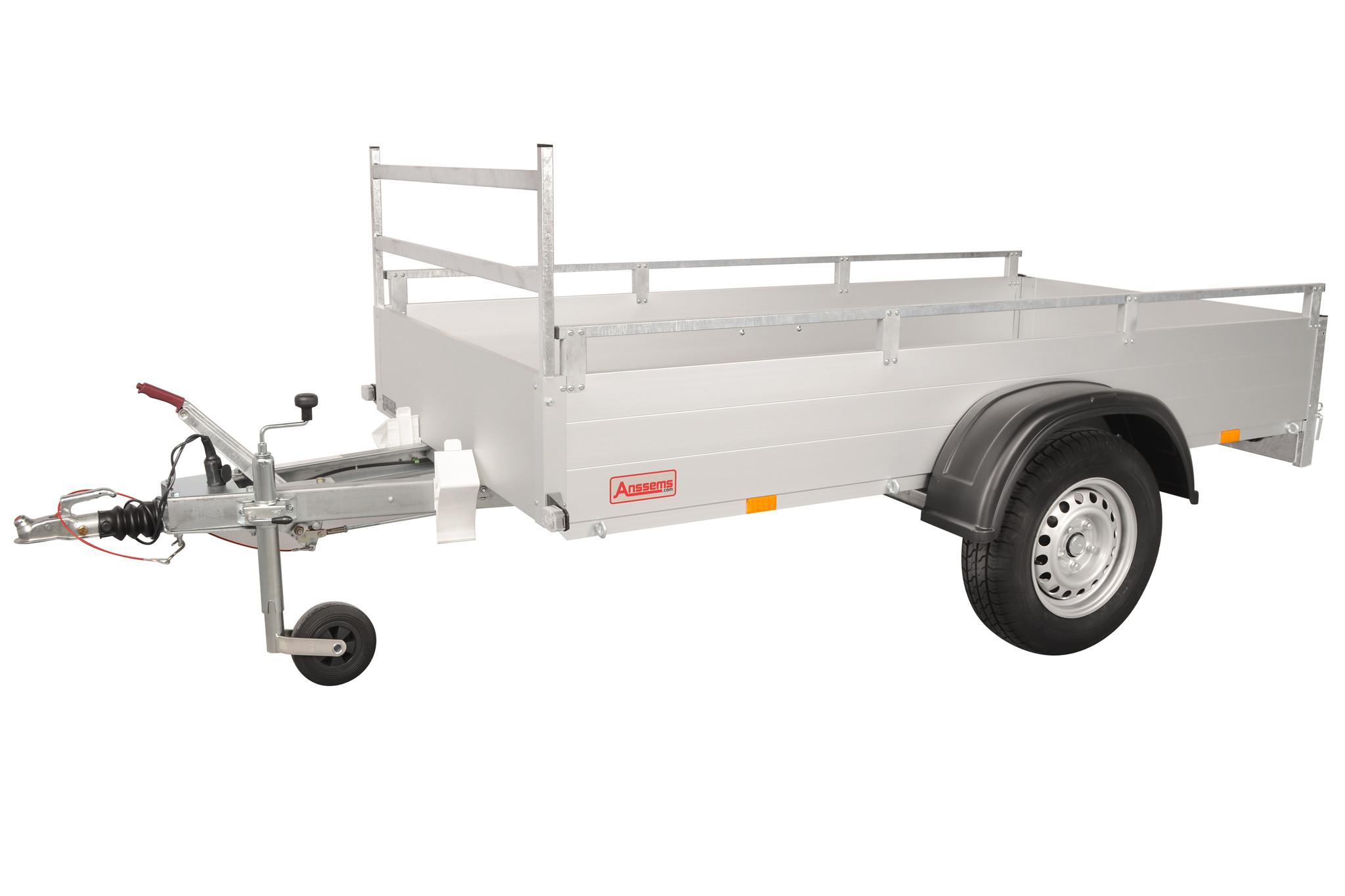 Anssems Anssems GTB 1200 R bakwagen - 1200 kg bruto laadvermogen - 301x126 cm laadoppervlak - geremd - inclusief reling en voorrek
