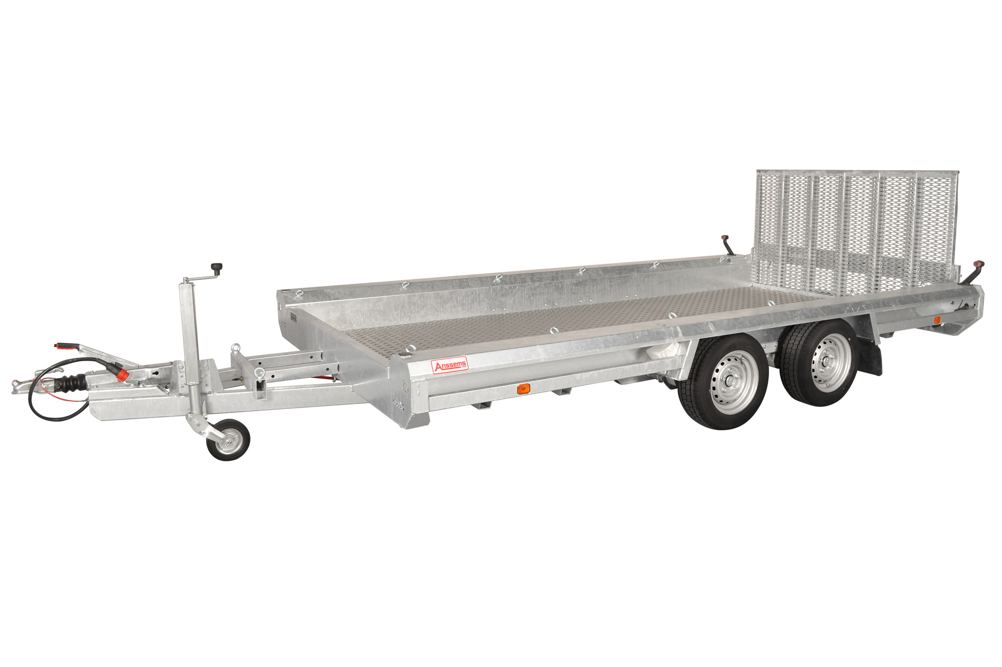 Hulco trailers Hulco TERRAX-2 3000 - 3000 kg bruto laadvermogen - machinetransporter - 394x180 cm laadoppervlak - geremd