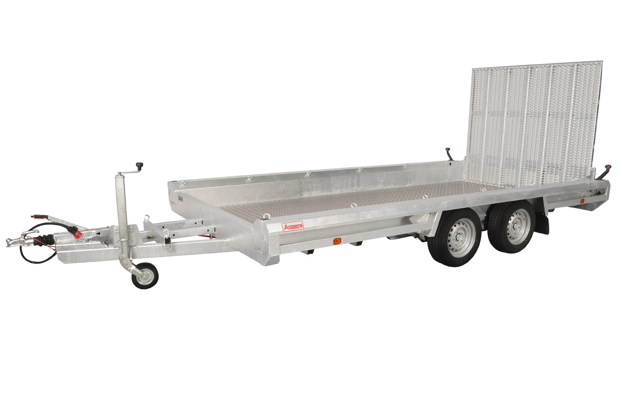 Hulco trailers Hulco TERRAX-2 3500 - 3500 kg bruto laadvermogen - machinetransporter - 394x180 cm laadoppervlak - geremd