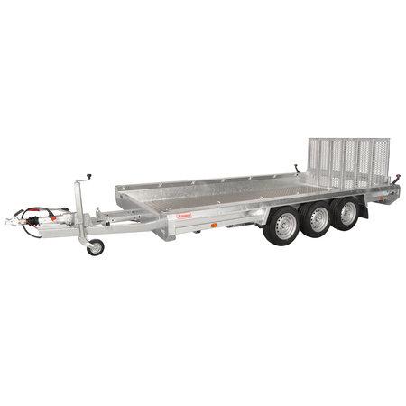 Hulco trailers Hulco TERRAX-3 3500 - 3500 kg bruto laadvermogen - machinetransporter - 394x180 cm laadoppervlak - geremd
