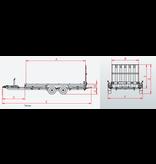 Hulco trailers Hulco TERRAX-3 3500 LK - 3500 kg bruto laadvermogen - machinetransporter - 394x180 cm laadoppervlak - geremd