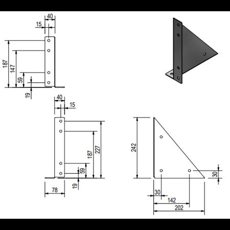 De Haan De Haan montagesteunen voor onderbouw kisten - OK/O/OS/OM/OL