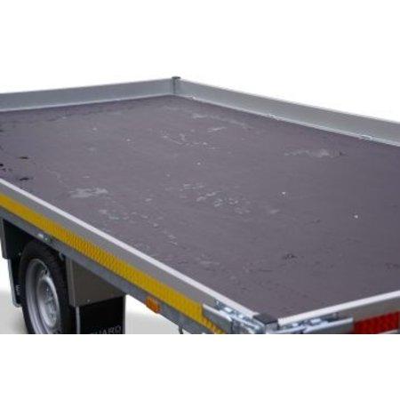 Eduard Geremde Eduard multitransporter - 506x200 cm - 3000 kg bruto laadvermogen - 63 cm laadvloerhoogte - 10 cm borden - inclusief oprijplaten en handlier